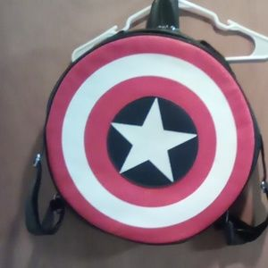 Captain America leather backpack